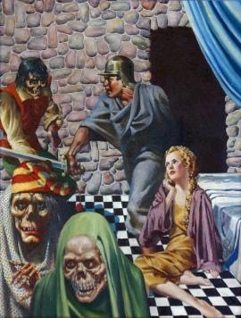 """The Globe of Memories"" - Virgil Finlay - Weird Tales, Feb 1937"