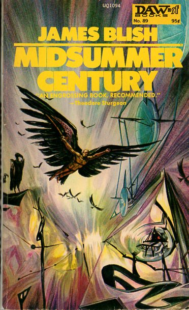 DAW #89 - 1974 - Josh Kirby. A vibrant cover depicting one of the most interesting scenes, Martels' Icarus-like flight to freedom.