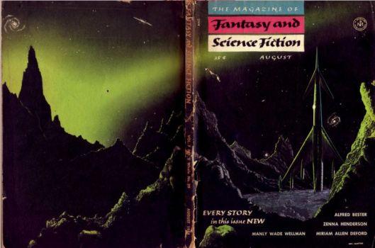F&SF - Aug '54 - Mel Hunter; full wraparound cover.