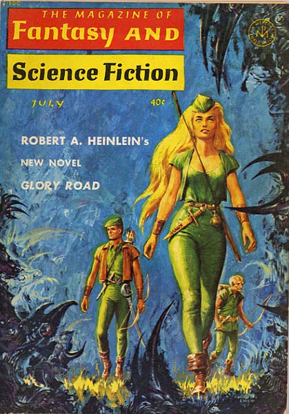 "F&SF - July, 1963 - Ed Emsh, ""Glory Road."""