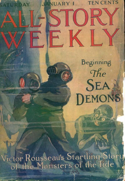 All-Story Weekly - 1st January 1916 - cover by W. Fairchild