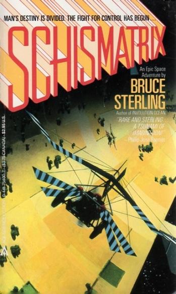 Schismatrix Plus Bruce Sterling Battered Tattered Yellowed