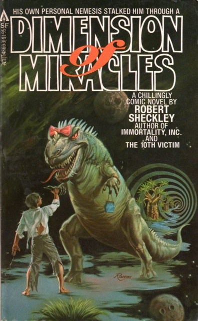 Ace Books - 1979 -  Rowena Morrill. Maybe it's just my childhood love of dinosaurs talking, but they were one of the humor high-points for me.