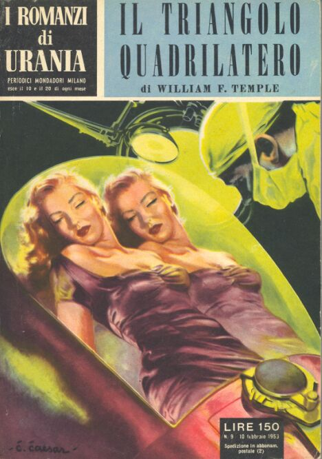 I Romanzi di Urania #9 - 1953 - Italian cover by Curt Caesar.
