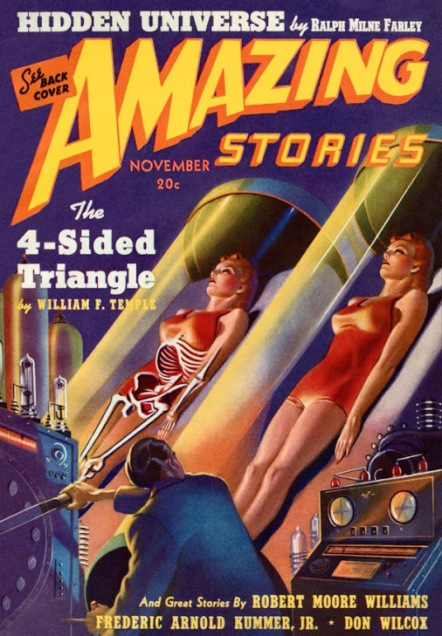 Amazing Stories, Nov 1939 - illo by Harold McCauley.